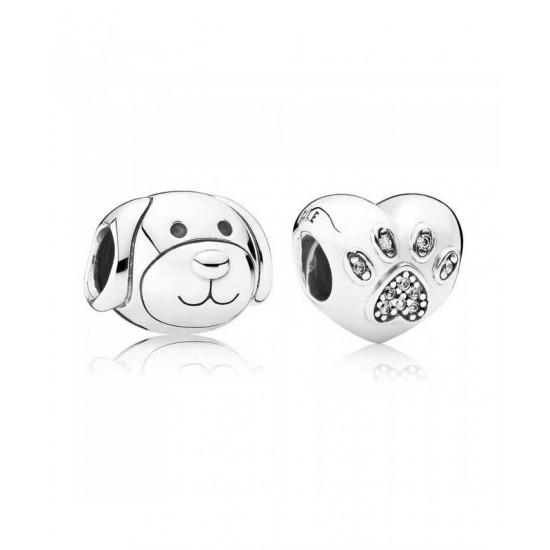 Pandora Charm-Silver I Love My Dog Jewelry
