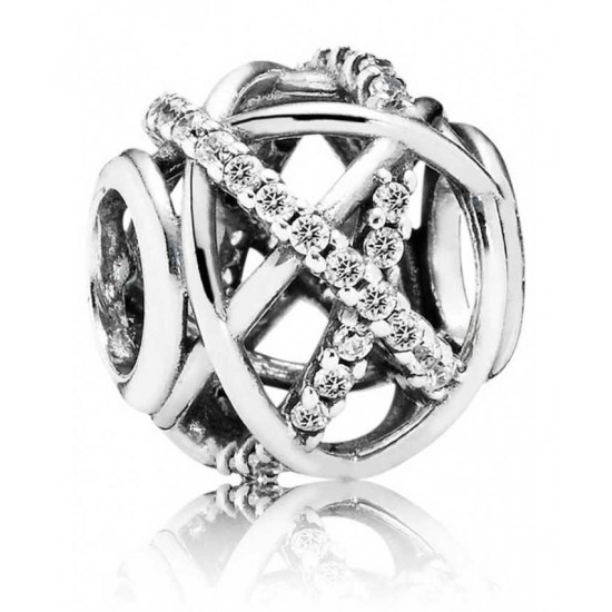 Pandora Charm-Silver Sparkling Galaxy Openwork Jewelry
