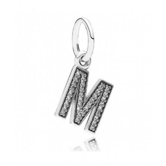 Pandora Charm-Sparkling Alphabet M Pendant Jewelry
