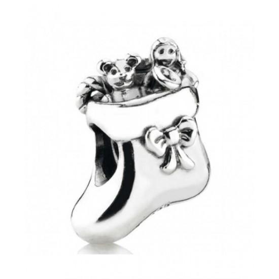 Pandora Charm-Sterling Silver Christmas Stocking Bead Jewelry