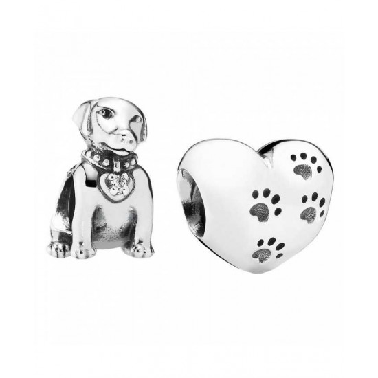 Pandora Charm-Silver Dog Lovers Jewelry
