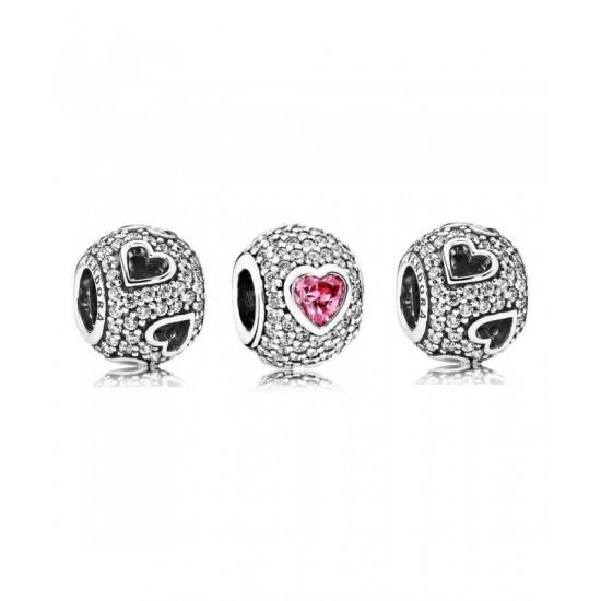 Pandora Charm-Captivated By Love Jewelry