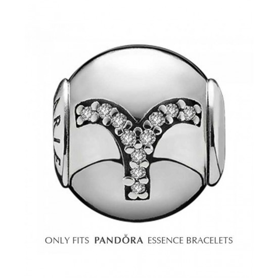 Pandora Charm-Essence Silver Aries Jewelry Sale Online