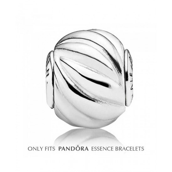 Pandora Charm-Essence Silver Wave Health Bead Jewelry