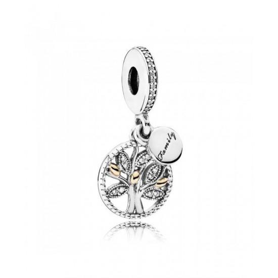 Pandora Charm-Silver Cubic Zirconia Family Heritage Jewelry