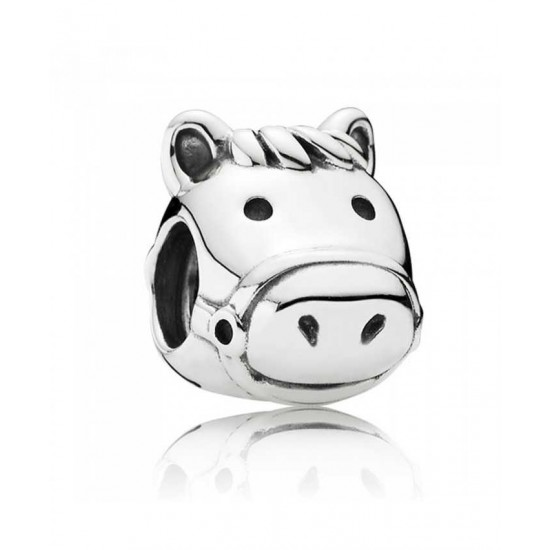 Pandora Charm-Silver Happy Horse Jewelry
