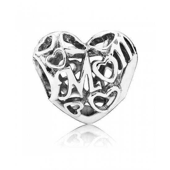 Pandora Charm-Silver Openwork Mum Jewelry