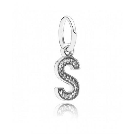 Pandora Charm-Sparkling Alphabet S Pendant Jewelry