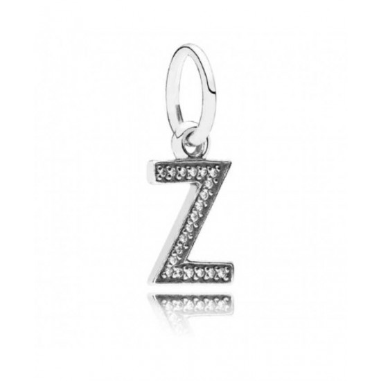 Pandora Charm-Sparkling Alphabet Z Pendant Jewelry