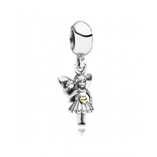 Pandora Charm-Sterling Silver 14ct Gold Fairy Jewelry