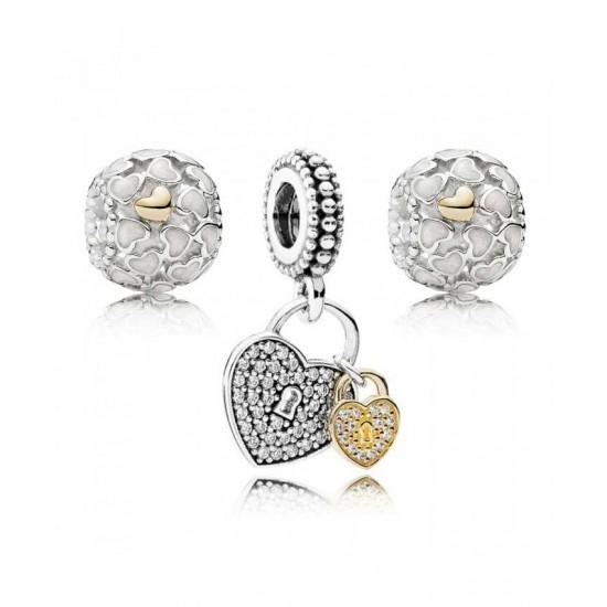 Pandora Charm-Love Locked Jewelry