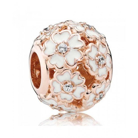 Pandora Charm-Rose White Primrose Meadow Jewelry Sale Cheap