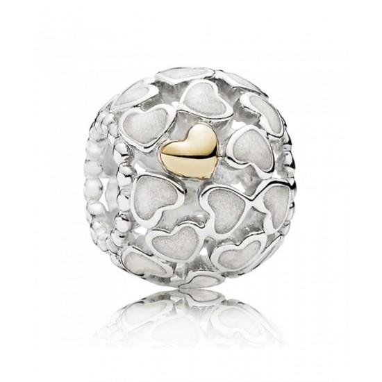 Pandora Charm-Silver 14ct Gold Abundance Of Love Openwork Jewelry