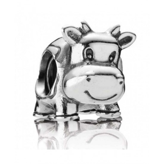 Pandora Charm-Silver Cow Bead Jewelry