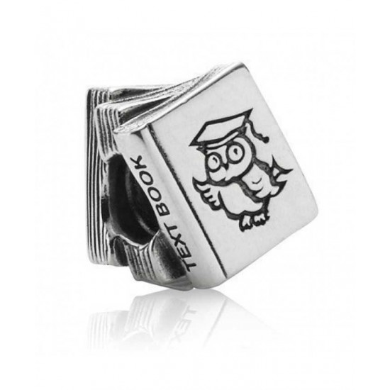Pandora Charm-Silver Owl Text Book Bead Jewelry