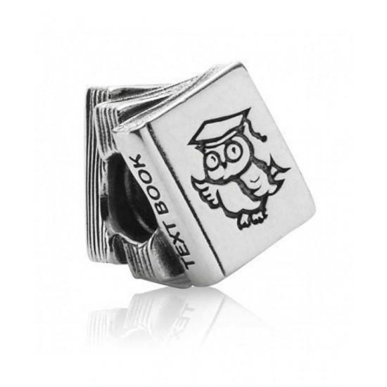 Pandora Charm-Silver Owl Text Book Bead Jewelry