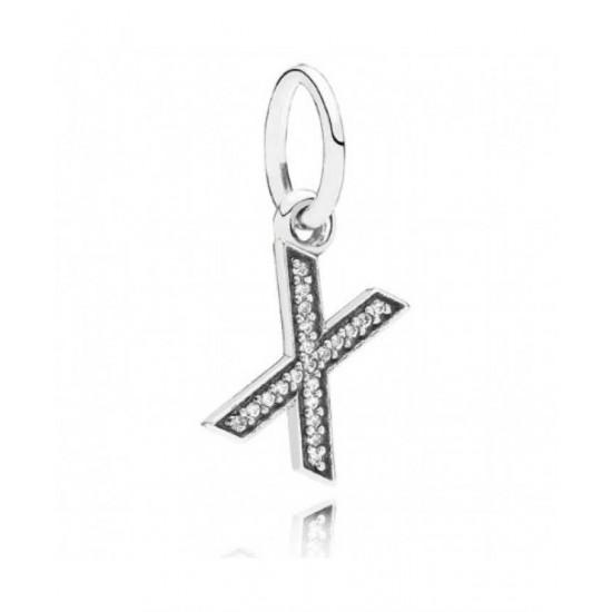 Pandora Charm-Sparkling Alphabet X Pendant Jewelry