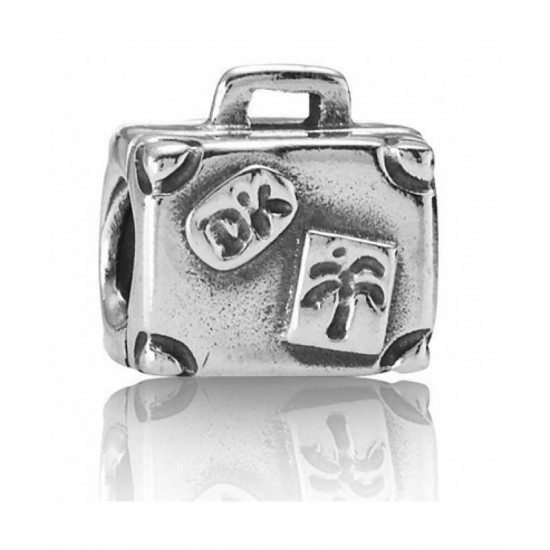 Pandora Charm-Sterling Silver Suitcase Bead Jewelry
