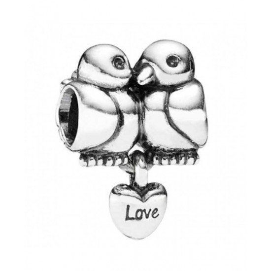 Pandora Charm-Sterling Silver Turtle Doves Dropper Jewelry
