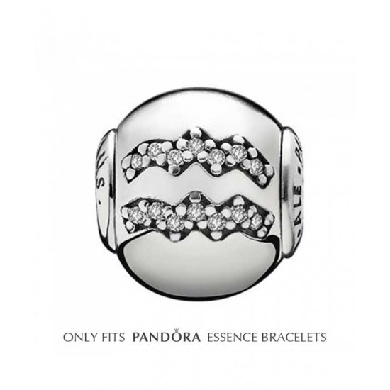 Pandora Charm-Essence Silver Aquarius Jewelry Sale Online