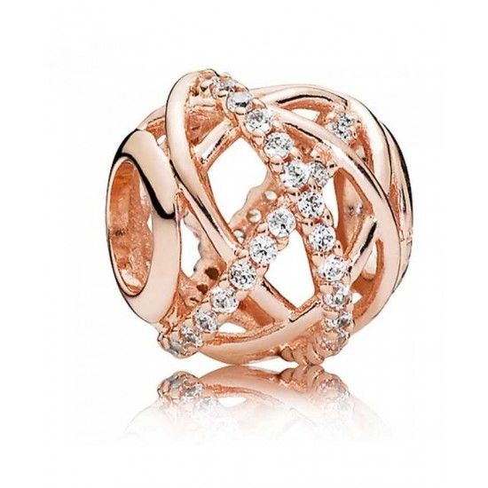Pandora Charm-Rose Galaxy Cubic Zirconia Jewelry