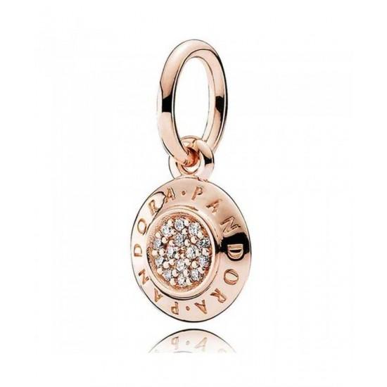 Pandora Charm-Rose Signature Pendant Jewelry