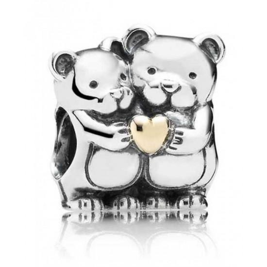 Pandora Charm-Silver 14ct Gold Teddys Heart Jewelry
