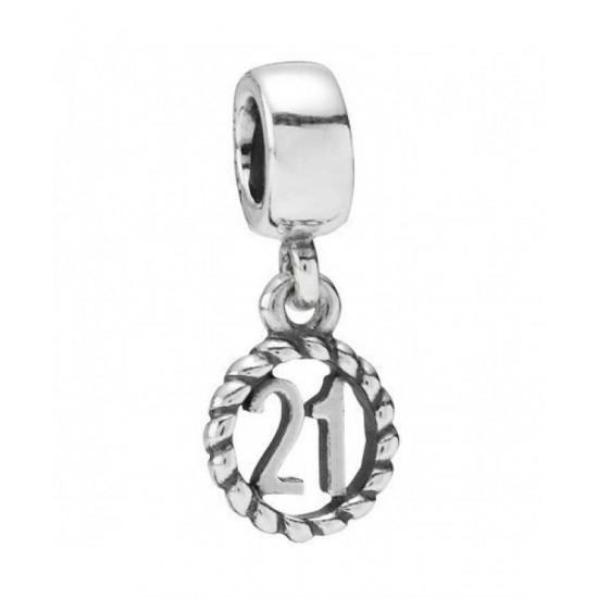 Pandora Charm-Silver 21 Dropper Jewelry