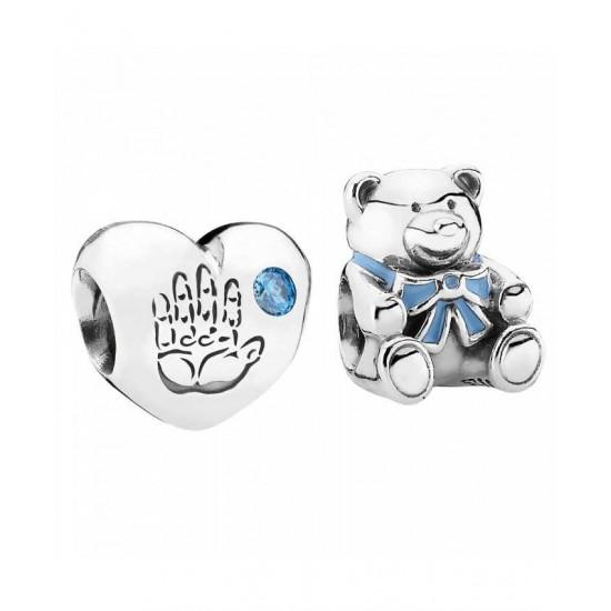 Pandora Charm-Silver Baby Boy Jewelry