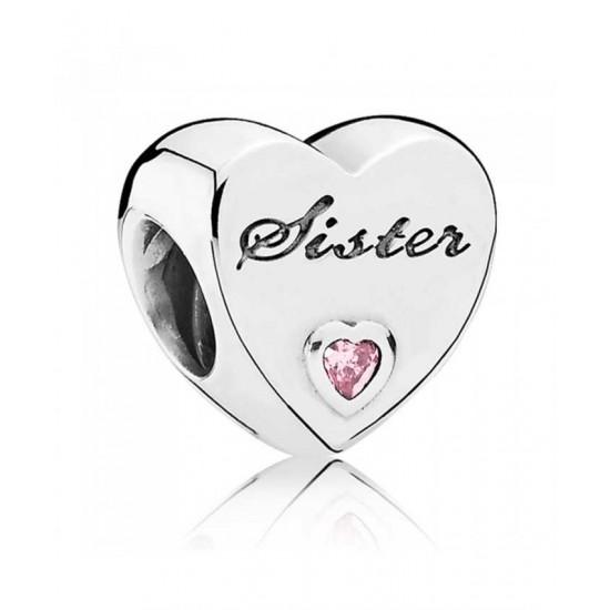 Pandora Charm-Silver Sisters Love Heart Jewelry