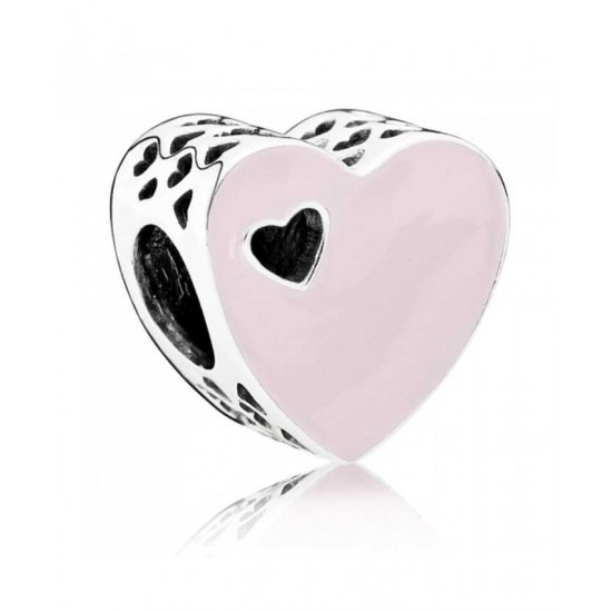 Pandora Charm-Silver Sweet Love Enamel Jewelry