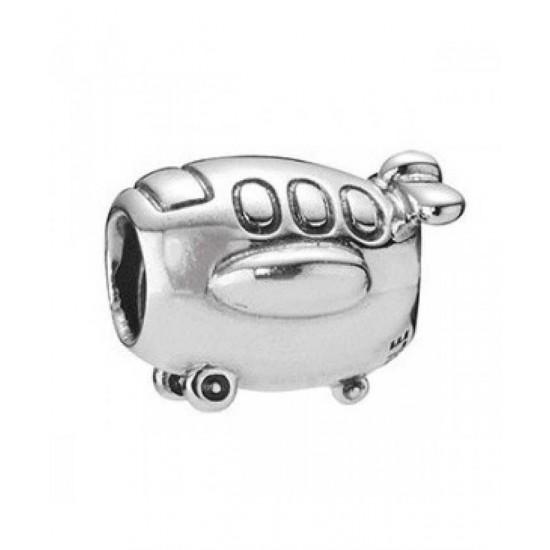 Pandora Charm-Sterling Silver Aeroplane Jewelry