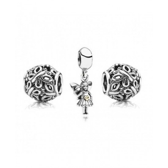 Pandora Charm-Sterling Silver Secret Fairytale Jewelry