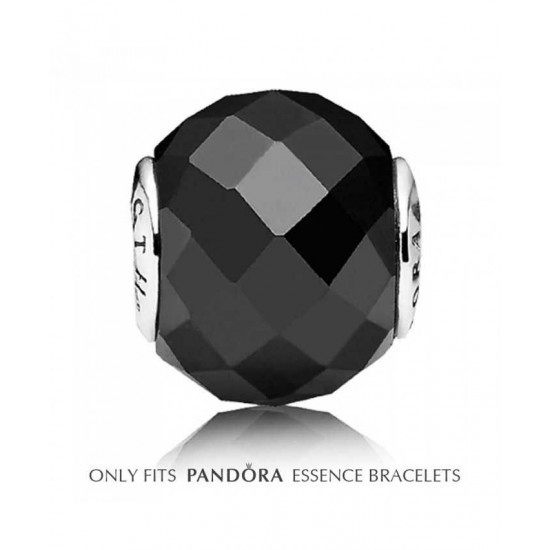 Pandora Charm-Essence Black Spinel Strength Bead Jewelry