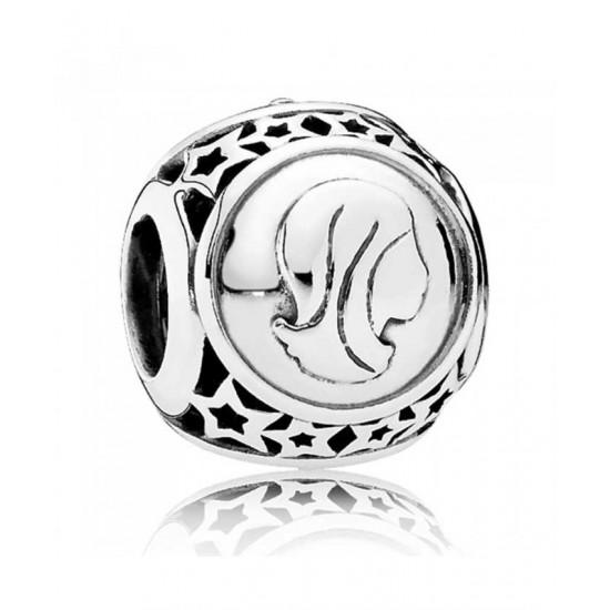 Pandora Charm-Silver Virgo Star Sign Jewelry