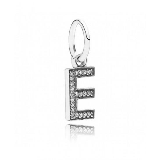Pandora Charm-Sparkling Alphabet E Pendant Jewelry