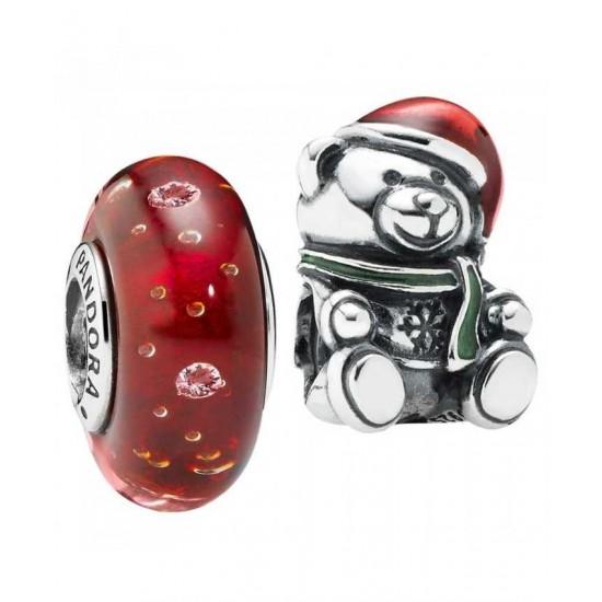 Pandora Charm-Festive Teddy Jewelry