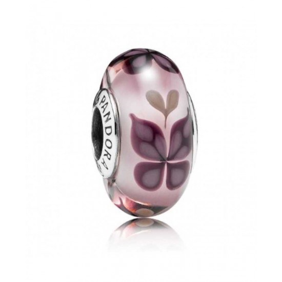 Pandora Charm-Pink Butterfly Kisses Murano Jewelry