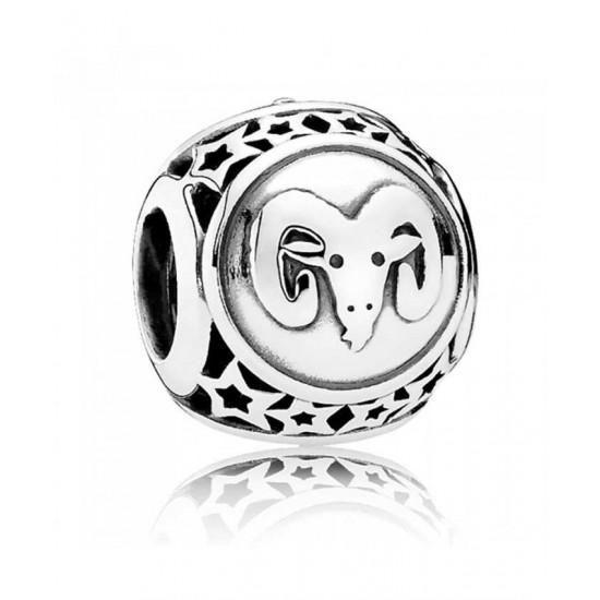 Pandora Charm-Silver Aries Star Sign Jewelry