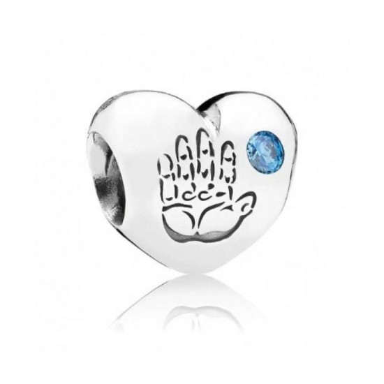 Pandora Charm-Silver Blue Cubic Zironia Baby Boy Jewelry