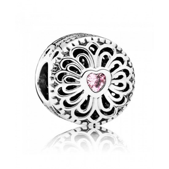 Pandora Charm-Silver Cubic Zirconia Love Friendship Jewelry