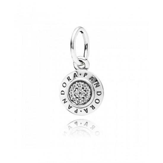 Pandora Charm-Silver Cubic Zirconia Signature Jewelry