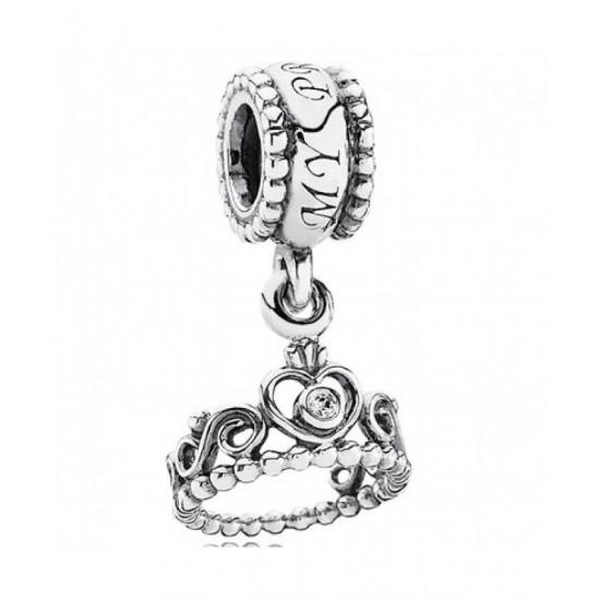 Pandora Charm-Silver Cz Tiara Dropper Jewelry