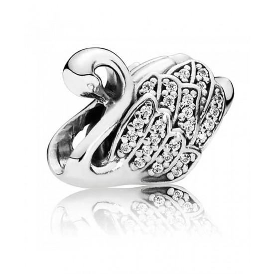 Pandora Charm-Silver Majestic Swan Jewelry
