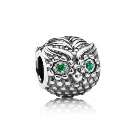 Pandora Charm-Silver Wise Owl Jewelry