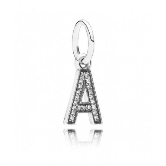 Pandora Charm-Sparkling Alphabet A Pendant Jewelry