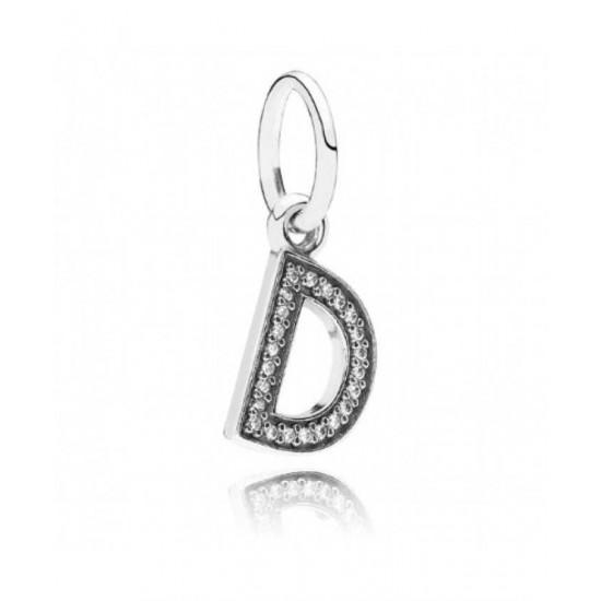 Pandora Charm-Sparkling Alphabet D Pendant Jewelry