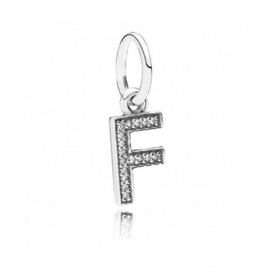 Pandora Charm-Sparkling Alphabet F Pendant Jewelry