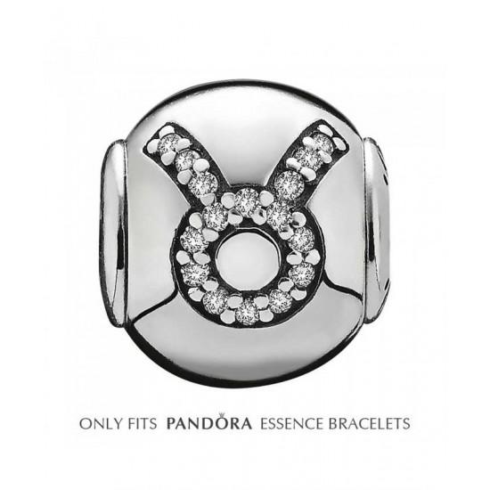 Pandora Charm-Essence Silver Taurus Jewelry