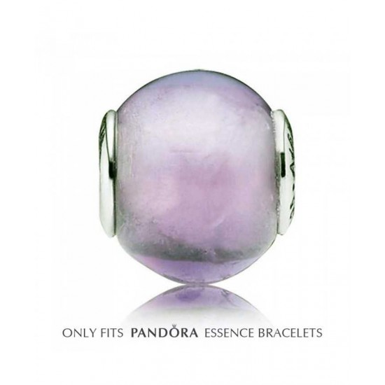 Pandora Charm-Essence Synthetic Amethyst Faith Bead Jewelry